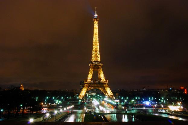 Eiffel Tower in the rain