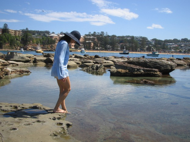 Terrigal Headland; chilly rock pool