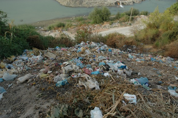 Fly tipping is a big problem in Albania