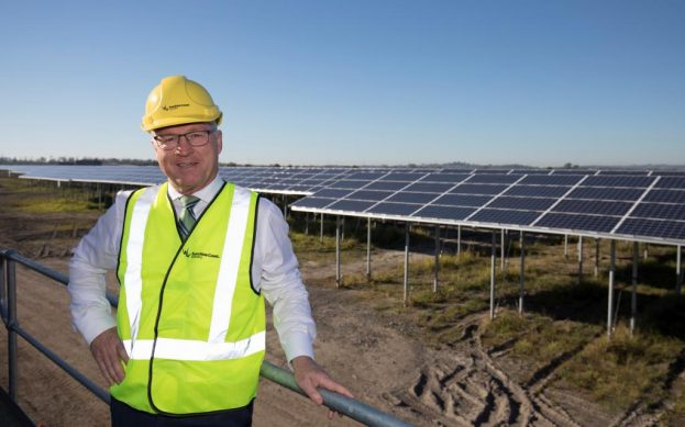 Sunshine Coast Mayor Mark Jamieson at the award winning Sunshine Coast Solar Farm
